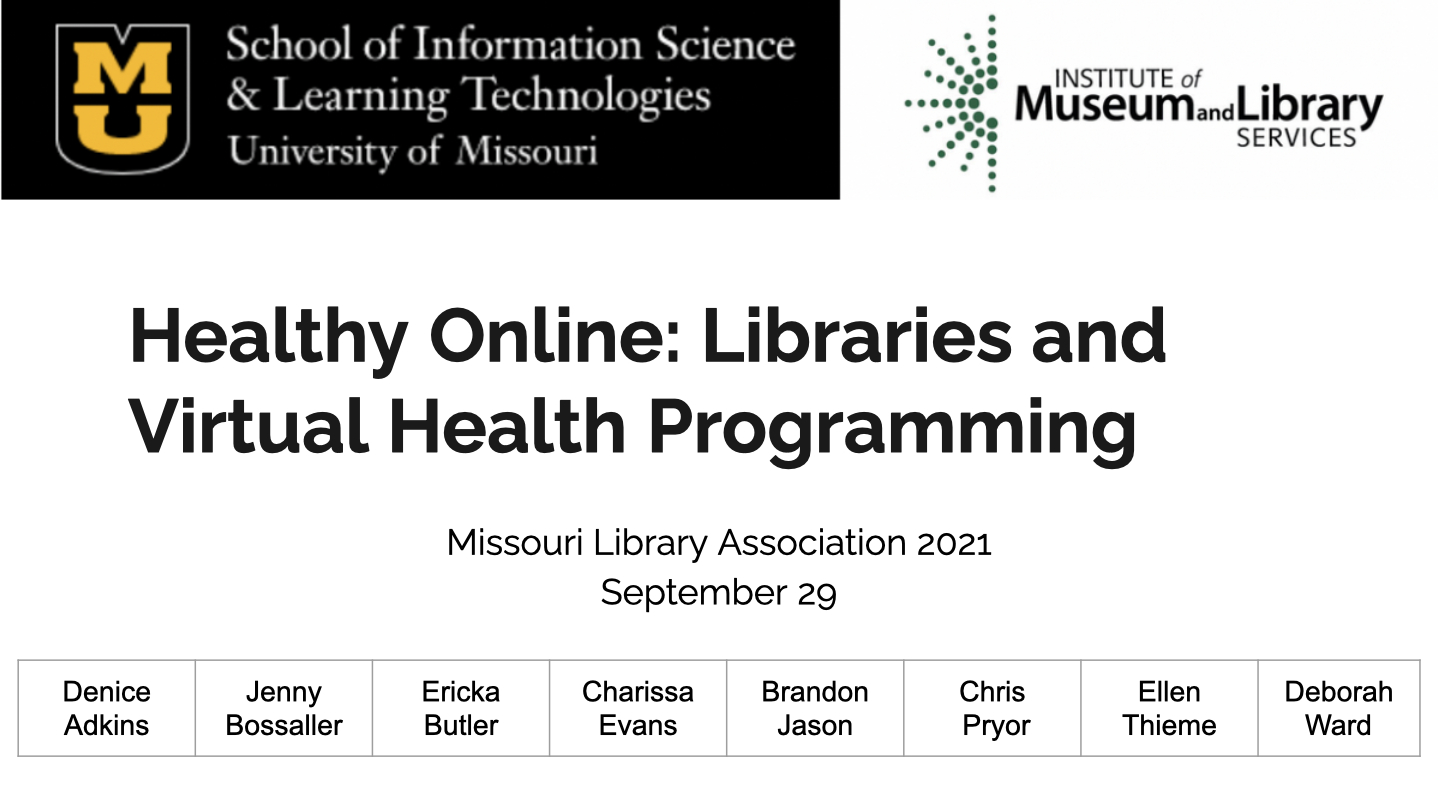 Healthy Online: Libraries and Virtual Health Preview